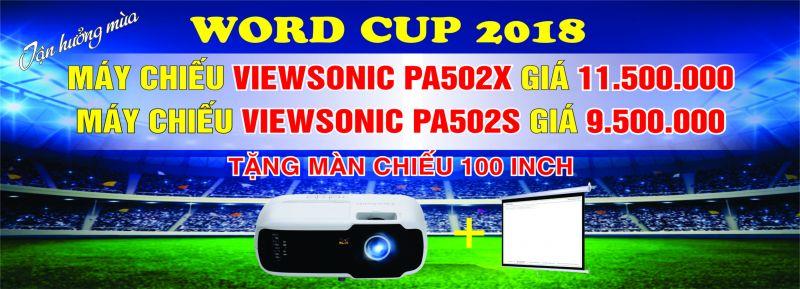 máy chiếu viewsonic chuẩn bị cho world cup 2018
